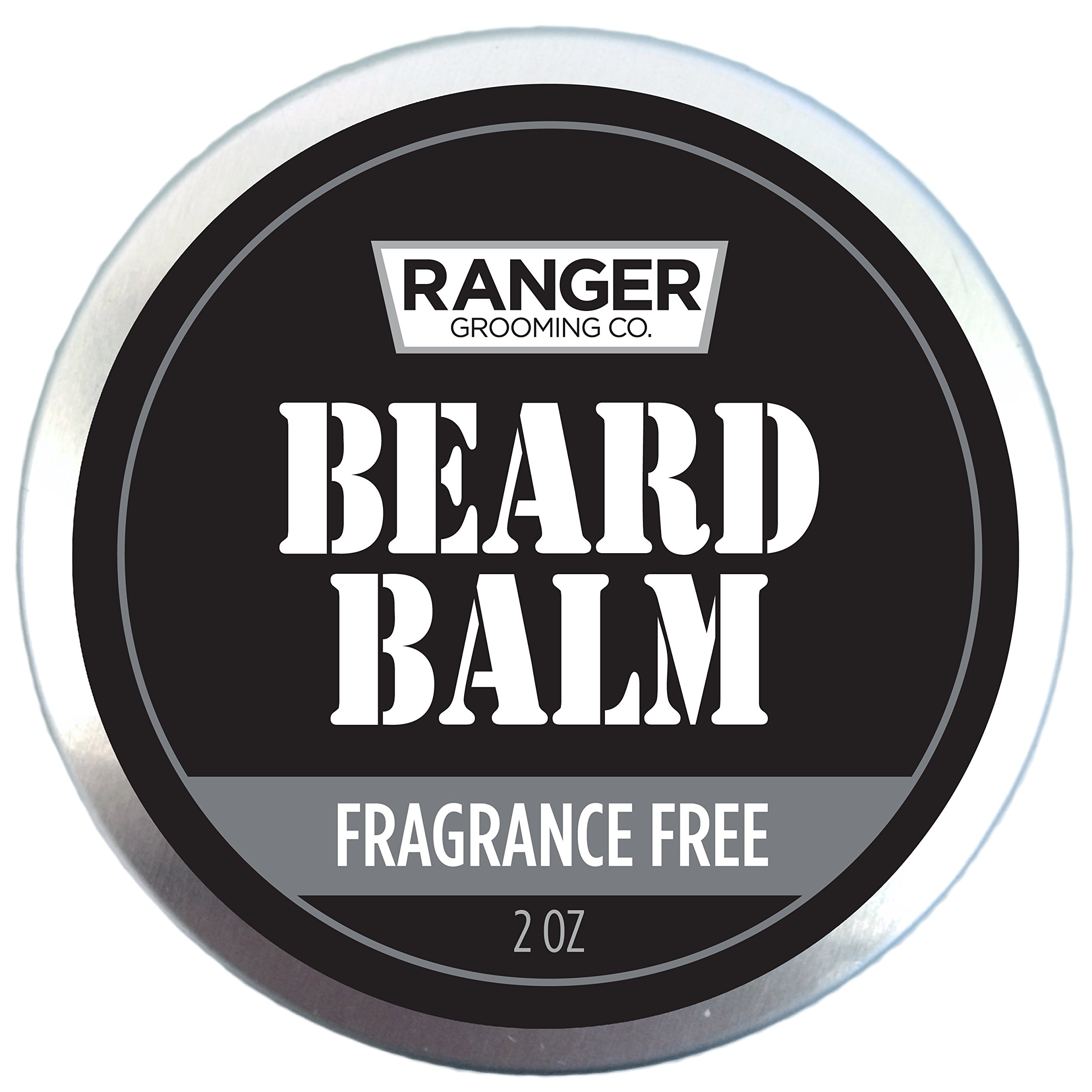 Fragrance Free Beard Balm, 100% Pure Natural Organic Leave In Conditioner with Natural Oils for Groomed Beards and Mustaches 2 oz by Ranger Grooming Co by Leven Rose