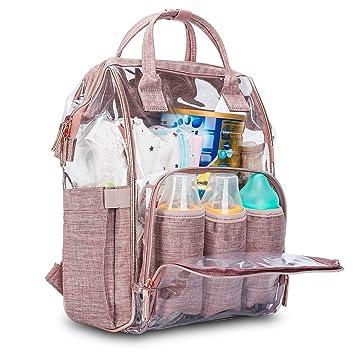 Amazon.com: Mochila para pañales de bebé LOKASS transparente ...