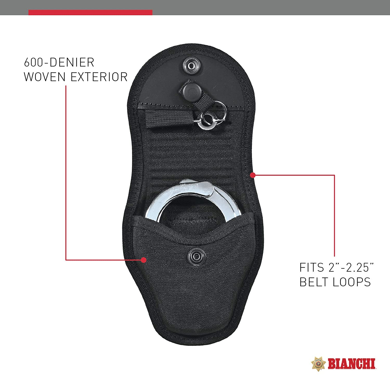 Bianchi Patroltek 8001 Single Black Hidden Snap Handcuff Case with Key Slot