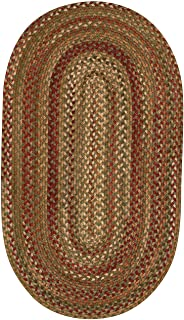 """product image for Manchester Sage Red Hues 9' 2"""" x 13' 2"""" Oval Braided Rug"""