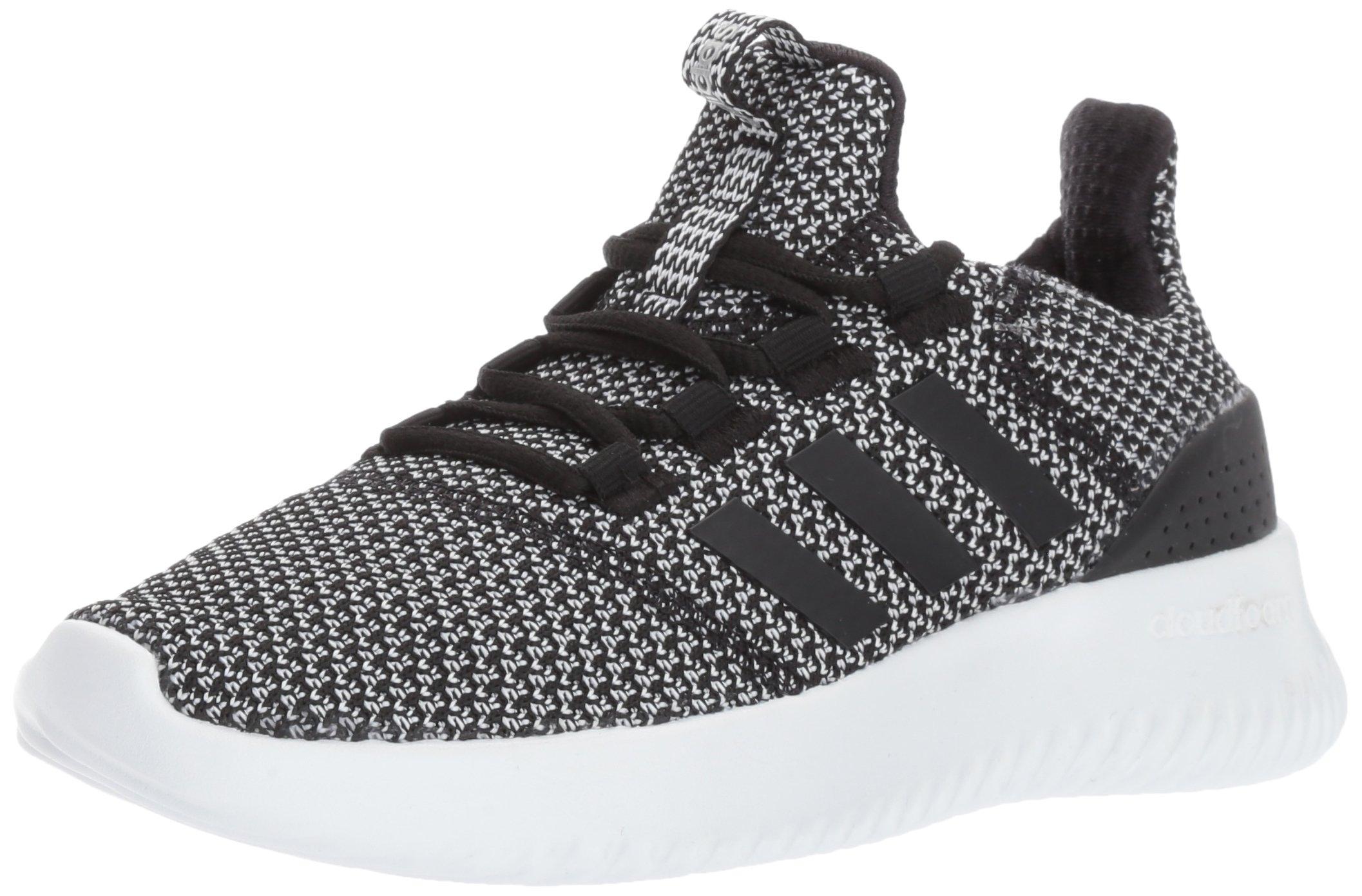 adidas Kids' Cloudfoam Ultimate Sneaker, Black/Black/Metallic Silver, 3 M US Little Kid
