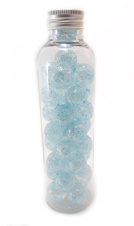 Bleu MaR/écr/éation-30 Billes P/épites en Verre /à Collectionner SKU-pep-bleu-14 14 mm