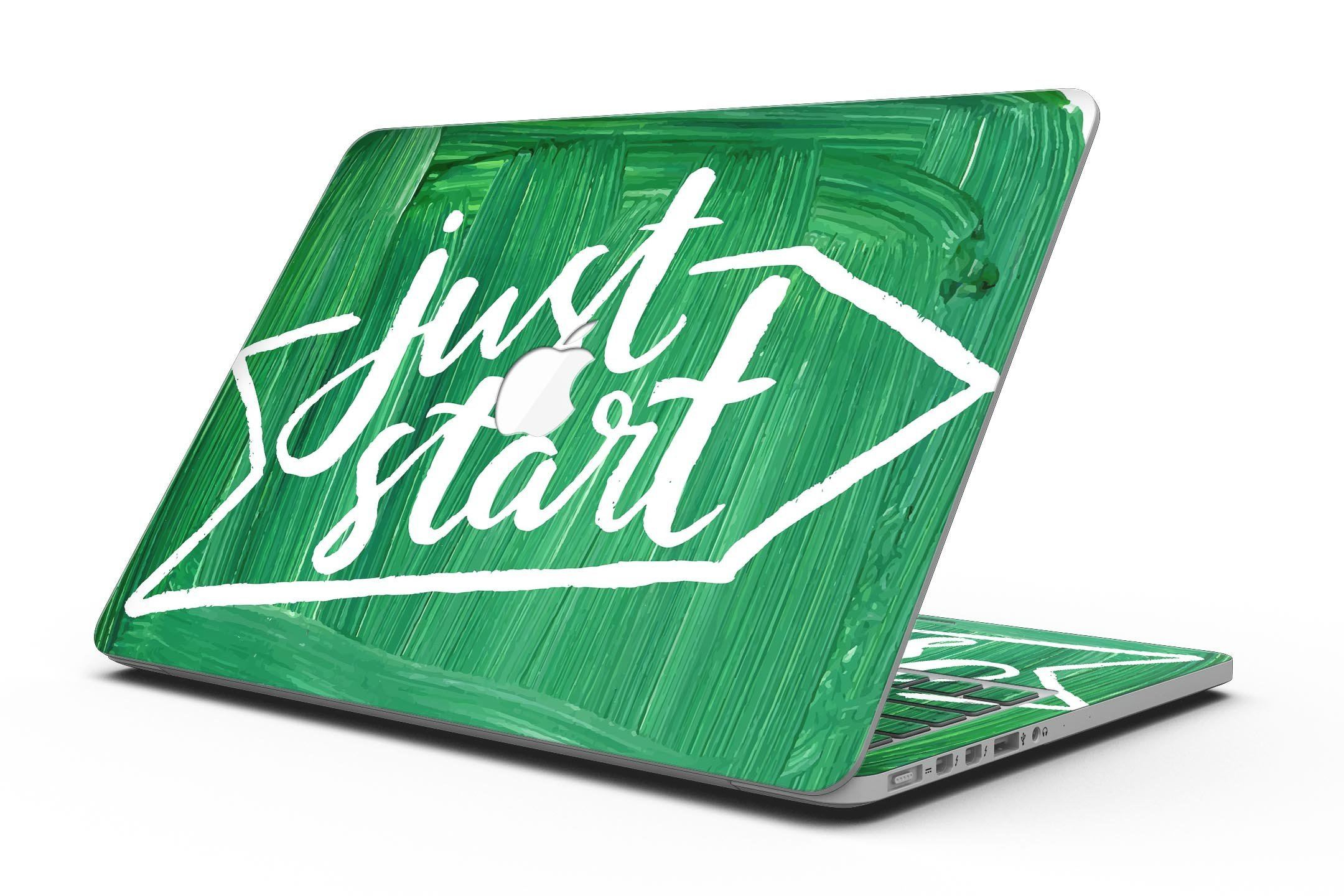 Just Start Green Paint - MacBook Pro with Retina Display Full-Coverage Skin Kit
