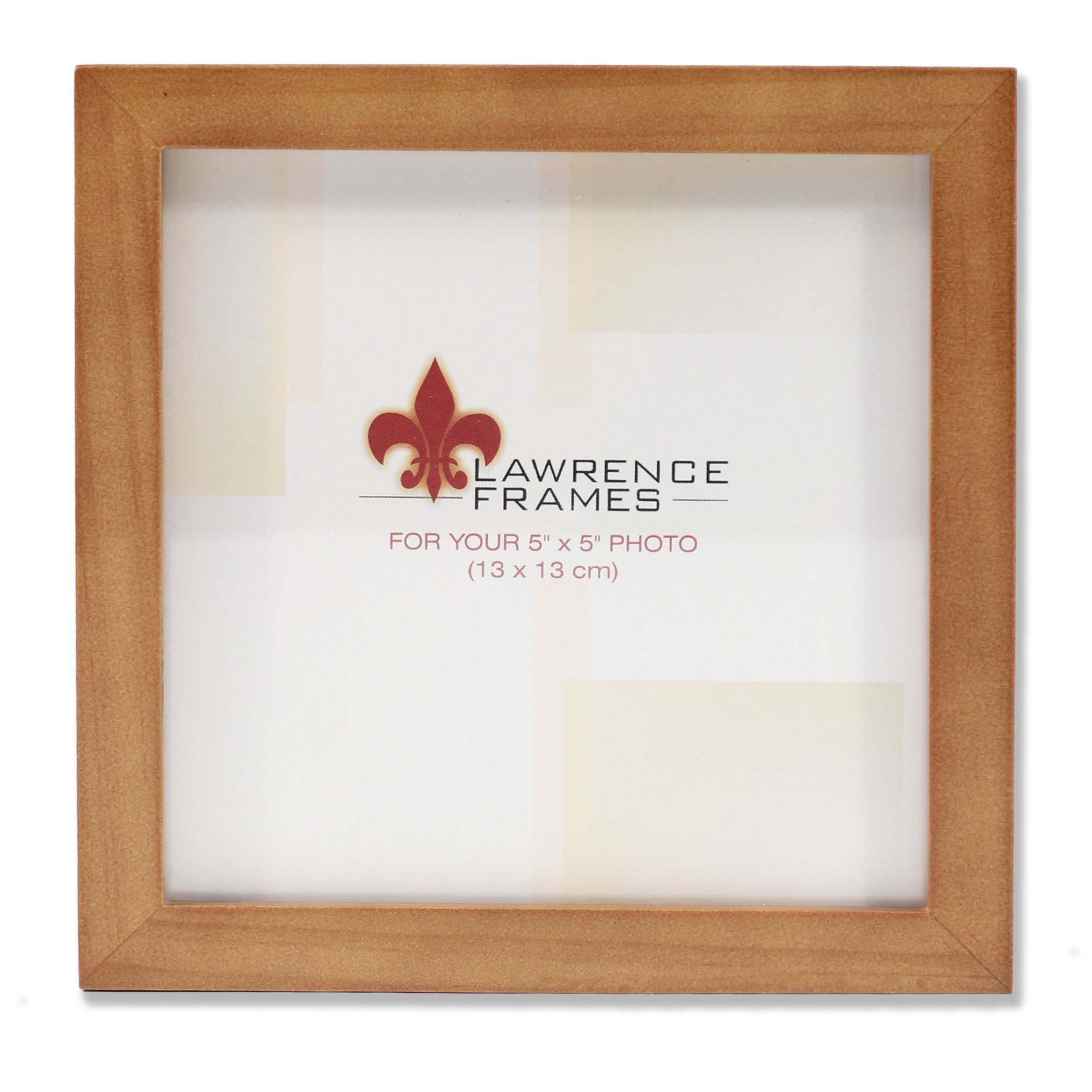 Lawrence Frames 766055 Nutmeg Wood Picture Frame, 5 by 5-Inch by Lawrence Frames