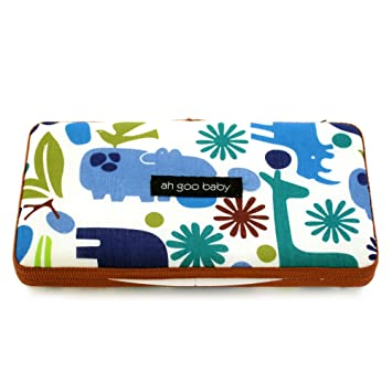35f97363dccd0 Amazon.com : Ah Goo Baby Wipes Case, On-The-Go Travel Size, Zoo Frenzy  Pattern : Baby Wipe Holders : Baby