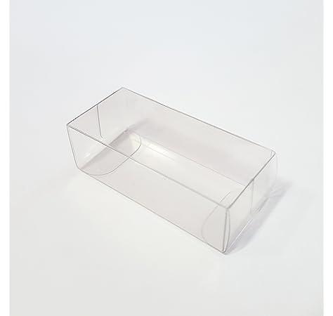 50 Piezas Caja Transparente PVC 8x8x20cm Puerta Detalle: Amazon.es: Hogar