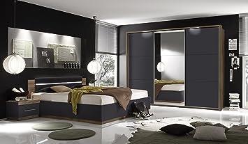 Pol-Power Schlafzimmer mit Bett 180 x 200 cm Columbia Nussbaum ...