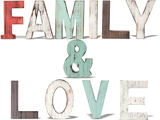 FAMILY freestanding wooden plaque// sign