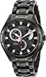 """Citizen Men's BL8097-52E Eco-Drive """"Calibre 8700"""" Black Ion-Plated Stainless Steel Watch"""