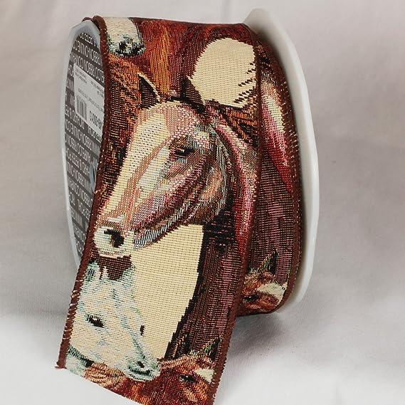 Rumani PP Horse Halter Headstall Iron Hardware Horse Print Ribbon Decoration