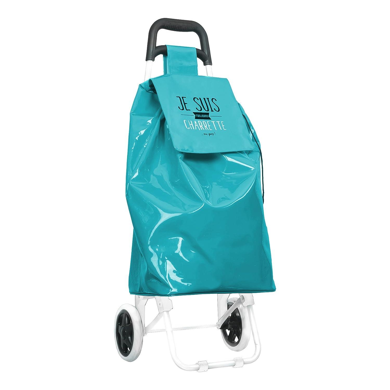 DITES LE AVEC DES MOTS MO0422 Chariot Course de 2 Roues PVC Rouge//Vert//Blanc//Noir 34,2 x 31 x 92 cm