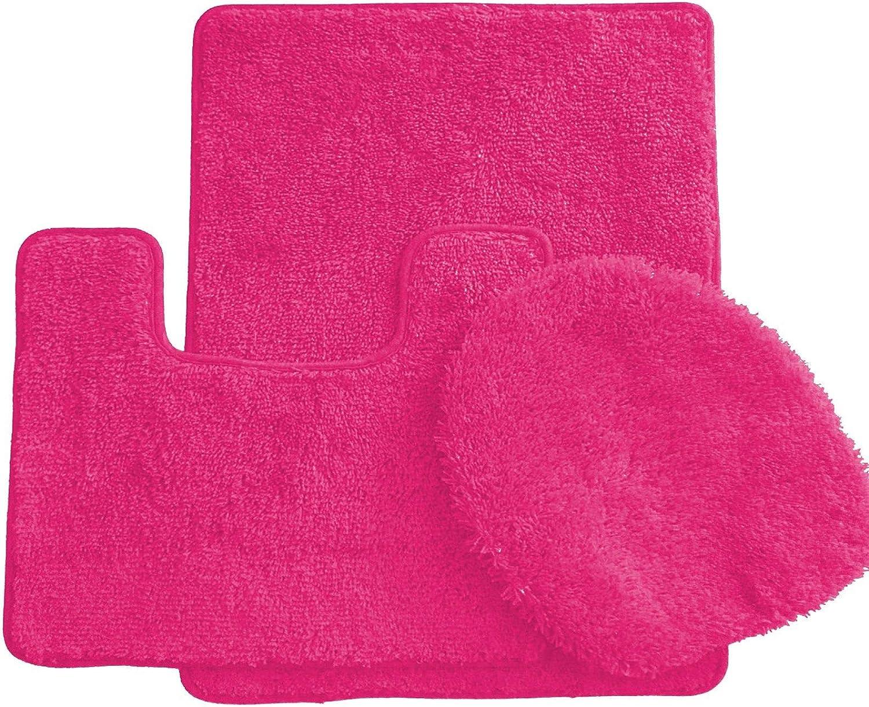 Ben Jonah Simple Elegance By Ben Jonah 18 X 30 1 Contour Mat 1 Toilet Seat Cover Apx 18 X 18 Neon Pink 3 Piece Bath Rug Set Home Kitchen Amazon Com