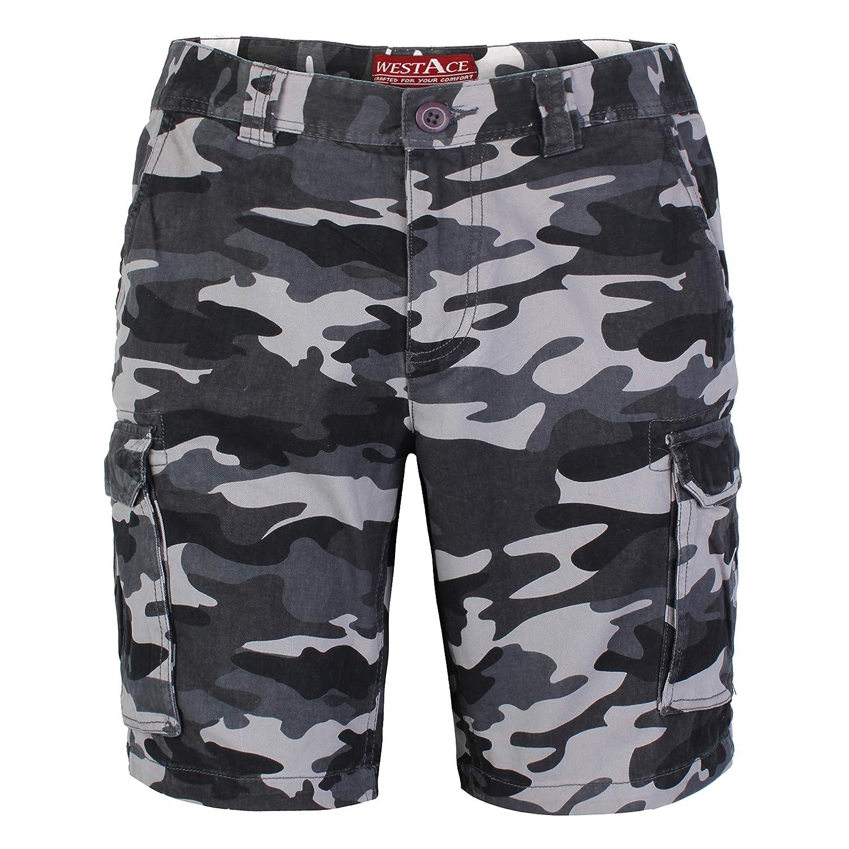 946998f597 Mens Army Cargo Combat Shorts Casual Work Cotton Chino Camo Half Pant |  Amazon.com