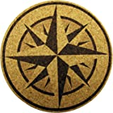 XL Coasters Nautical Compass Rose (9 Inch) Drink coasters that don't stick
