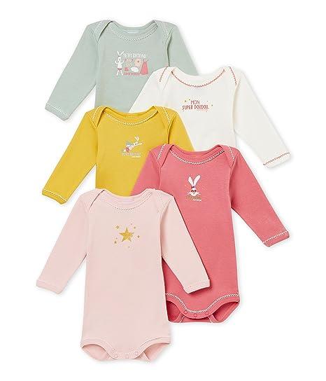 ea0fe5a6312e8 Petit Bateau SF Bodies Us ML Body (Lot de 5 Bébé Fille: Amazon.fr: Vêtements  et accessoires