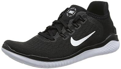 57a4c43006a4d Nike Free Rn 2018 Sz 6 Womens Running Black/White Shoes