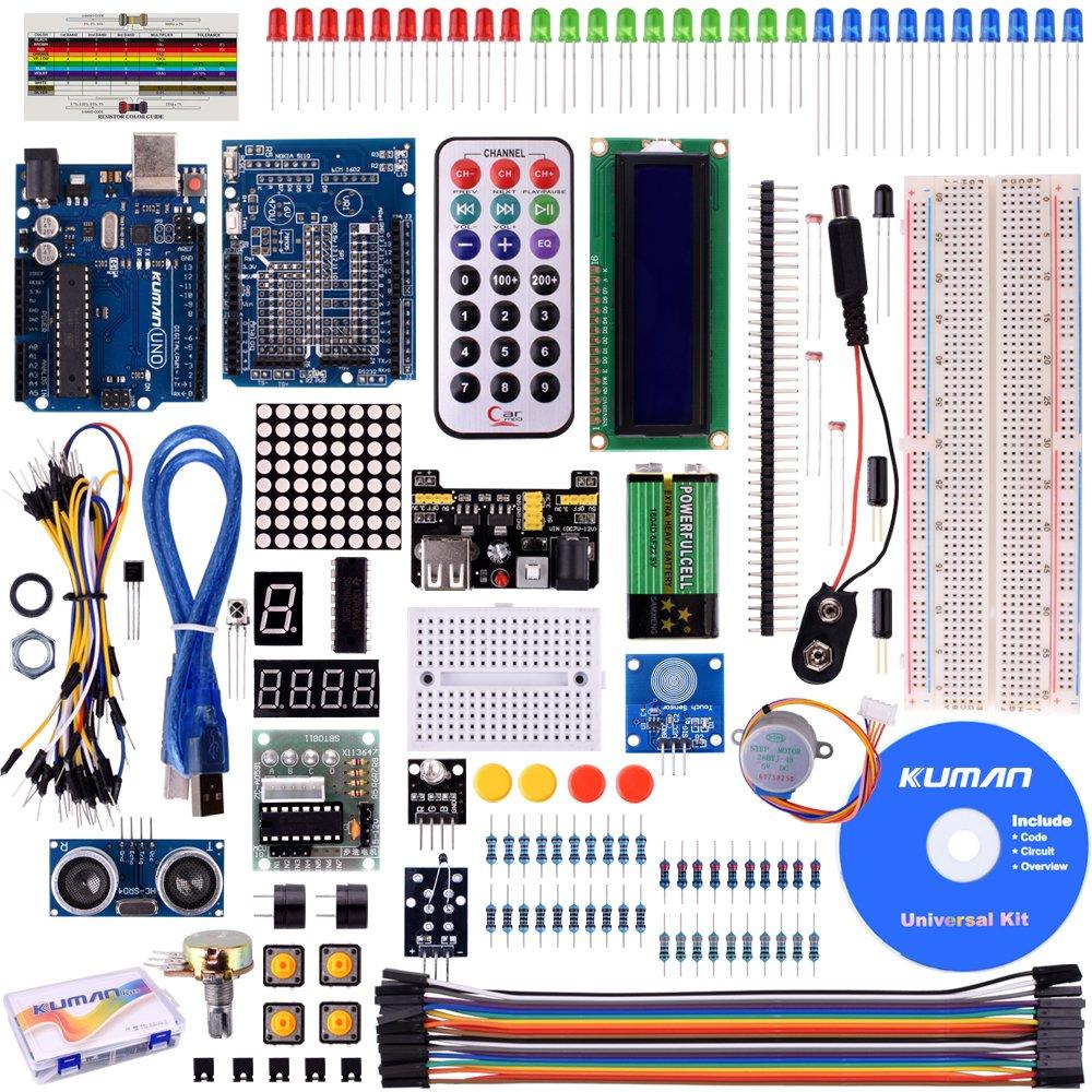 Kuman Proyecto super Starter Kit para Arduino Uno R MEGA mega nano