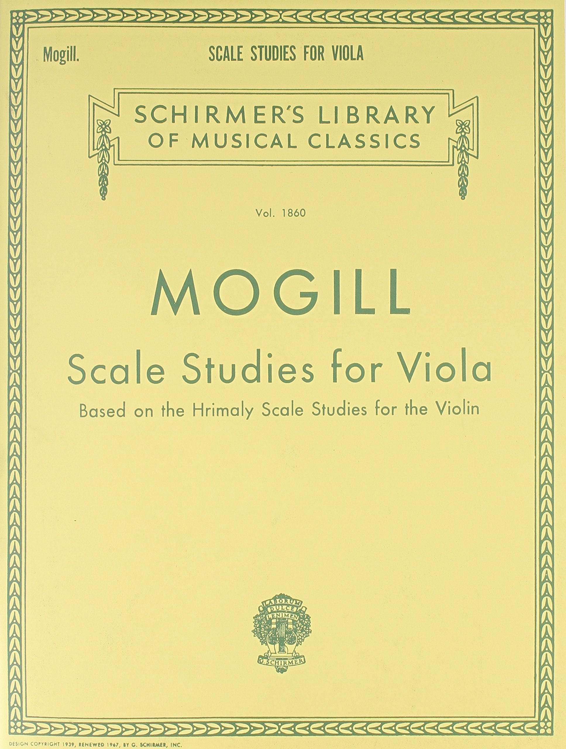 Scale Studies for Viola: Based on the Hrimaly Scale Studies for the Violin