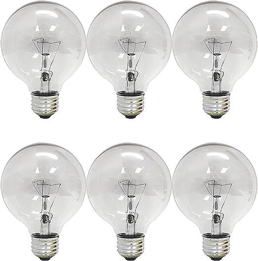 Industrial Electrical 12-Pack Crystal Clear GE 12980-6 40 Watt ...