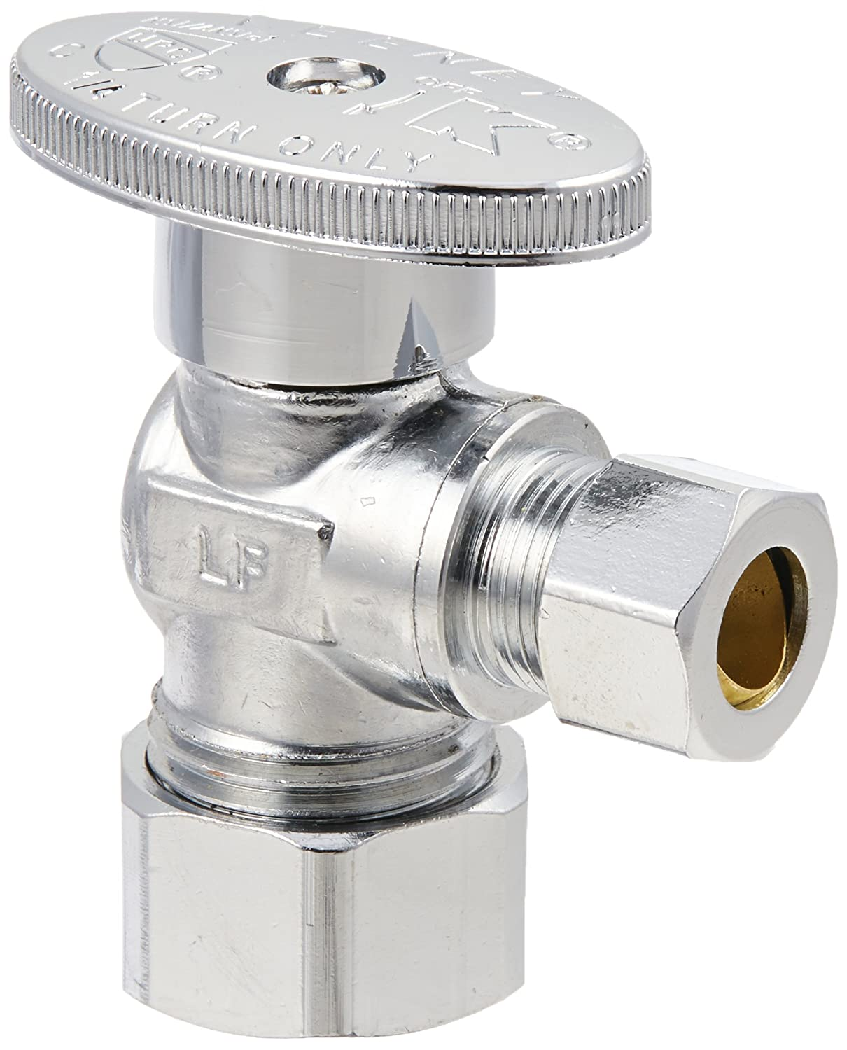 QUARTER ANGLE VALVE 5//8 COARSE THD INLET X 3//8OD OUT LEAD FRE Keeney Manufacturing K2659PCLF