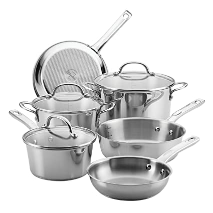 0b95b7c5236 Amazon.com  Ayesha Curry 70153 Home Collection Stainless Steel Cookware Set
