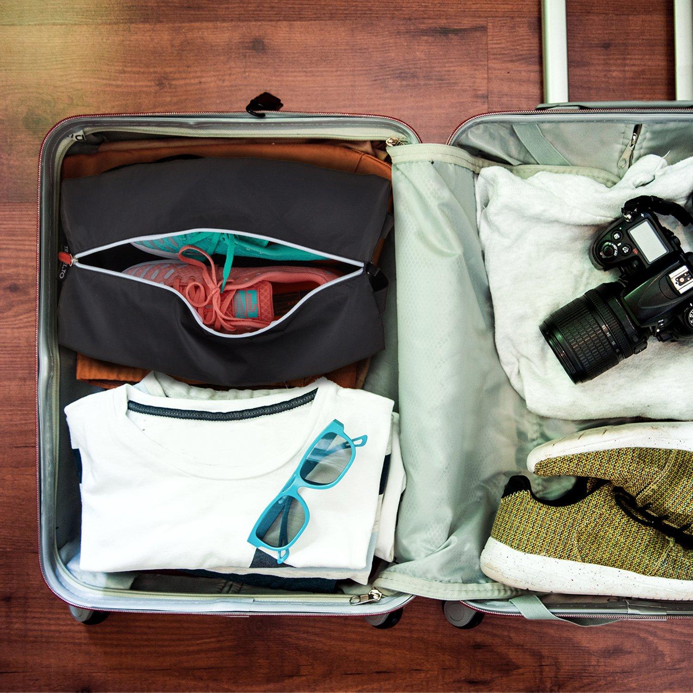 53b52e11a ... 2 bolsas para zapatos de nylon resistente con cierre ideal para viajes  - Ampliar imagen