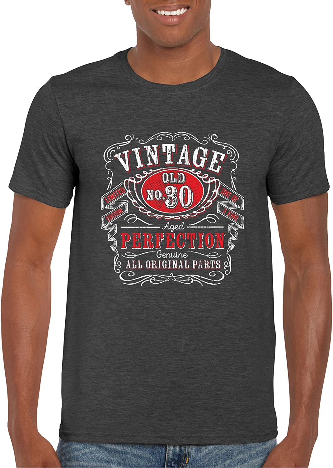 Texas Tees Birthday T Shirt for Men, Whiskey Age Shirt, Mens Gifts for Birthday
