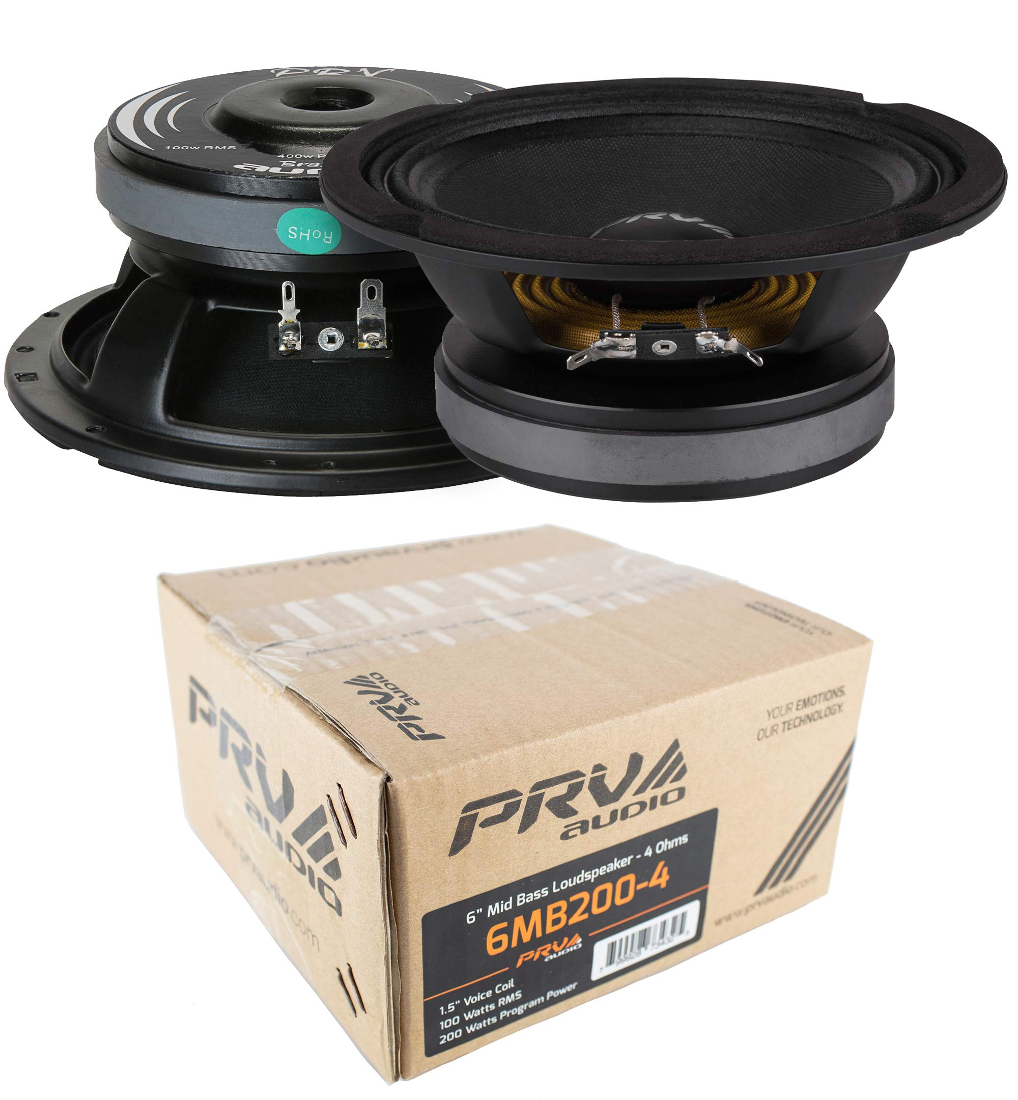 6.5'' Full Range Mid Bass Mid Range Loud Speaker 4 Ohm PRV6MB200-4 400W PRV Audio 1 Pair