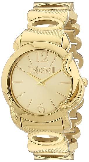 Just Cavalli Reloj Analógico para Mujer de Cuarzo con Correa en Acero Inoxidable Recubierto R7253576501: Amazon.es: Relojes