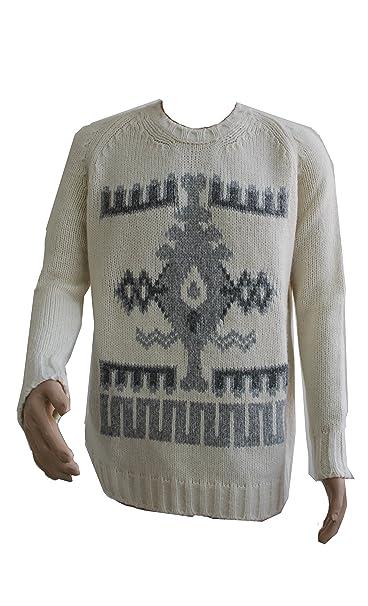 Size Abbigliamento it Dondup Keren Lana Amazon S Uomo Panna Maglione naPqTCaf