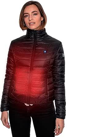 Beston Cazadora calefactable Mujer - 3 Niveles de Temperatura, 5 Zonas de calentado, hasta 7 Horas de duración, Carga tu móvil hasta 4 Veces