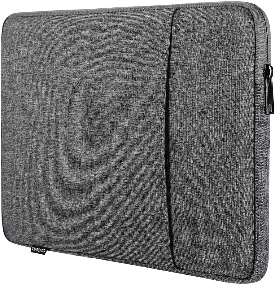 """TiMOVO 13 Inch Tablet Laptop Sleeve Case Compatible with iPad Pro 12.9 2020, MacBook Air 13 Inch, MacBook Pro 13"""", Surface Laptop 1/2/3, Soft Durable Pocket, Dark Gray"""