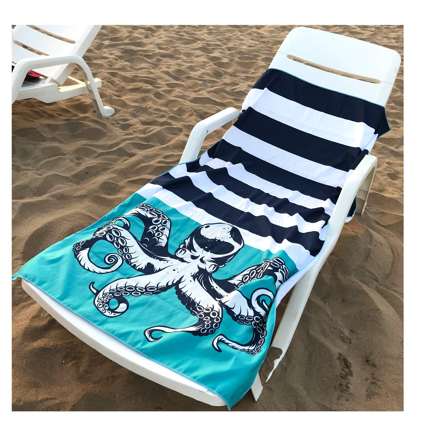 HAPEE Microfiber Beach Towels Overlarge XL 63x32 for Sports, Travel,Swim,Pool- Quick Dry Super Absorbent Lightweight by HAPEE