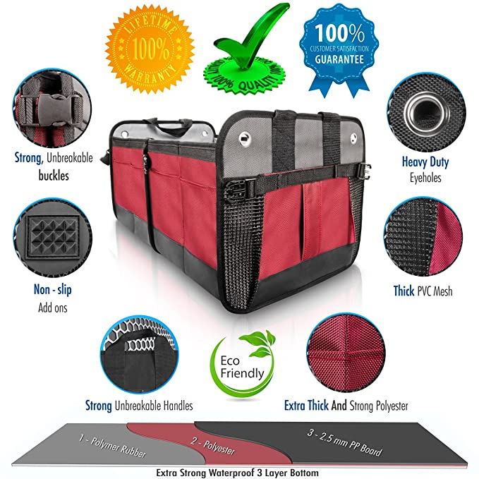 Amazoncom Starlings Car Trunk Organizer Durable Storage Suv
