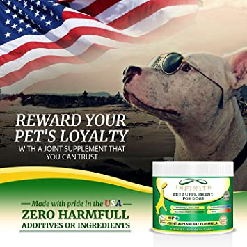 amazon com all natural hip joint supplement for dogs powder