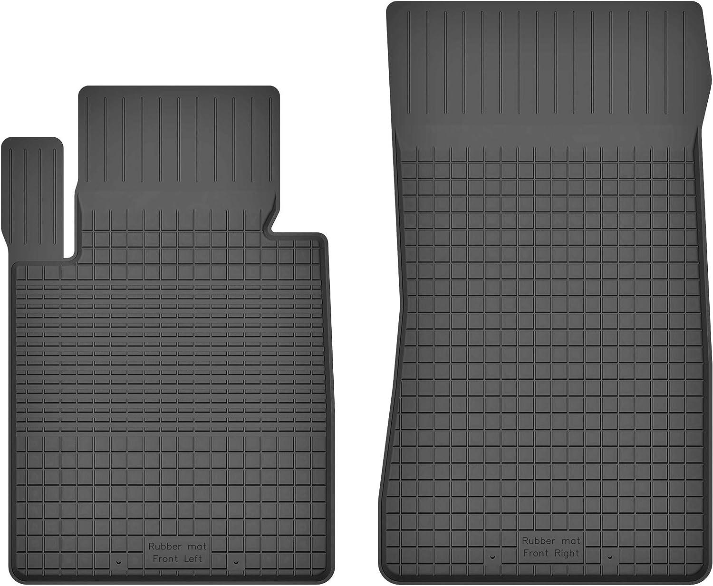 Nero stuoie Auto 5902538784818 Set Completo di 2 Tappetini in Moquette Tappetini per Auto