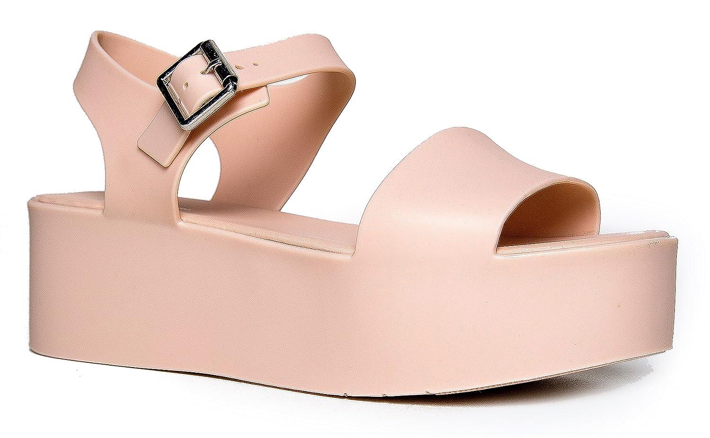 c42a2b8b3b31 J. Adams Women s Platform Sandal Comfort Platform Jelly Wedge Open Peep Toe  Fashion - Chunky Platform Ankle Strap Ultra Comfortable Walking Shoe