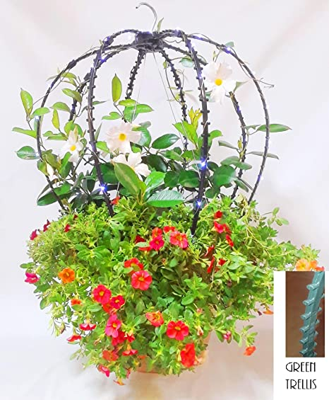 A Garden Trellis You Add To Your Hanging Planter With Wire Hangers Or To  Use As