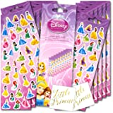 Disney Princess Stickers Party Favor Pack Plus Separately Licensed Little Princess Stickers for The Birthday Girl or Guest of Honor