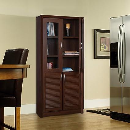HomeTown Stark 4-Door Book Case (Walnut)