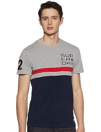 Superdry Heritage Classic tee, Camiseta de Tirantes Hombre, Verde (Highland Green Ugs), X-Large amazon beige Estampado