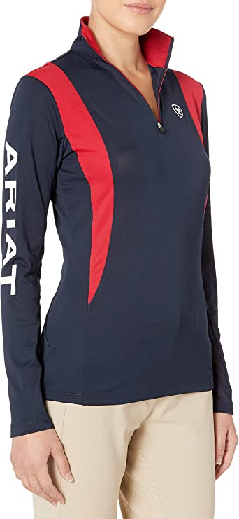 *SALE  2018* Ariat Womens Lowell 2.0 1//4 Zip Baselayer Horse Print XS