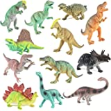 "Boley Educational Dinosaur Toys 12 pack - kids 9"" realistic toy dinosaur figures for cool kids and toddler education! (T-rex, triceratops, velociraptor, etc) Great gift set and party favors!"
