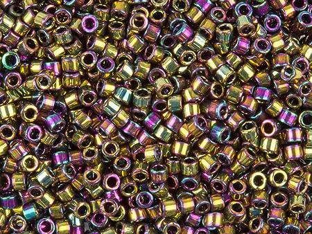 Miyuki Delicas 11//0 Metallic Bronze AB Seed Beads DB-023