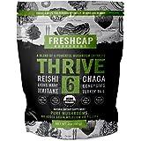 Thrive 6 Powerful Mushroom Extract Powder - USDA Organic - Lions Mane, Reishi, Cordyceps, Chaga, Turkey Tail, Maitake -60g- S