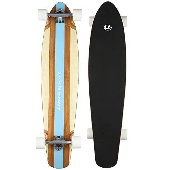 Ultrasport Carving Monopatín Longboard para la Ciudad y Parque, rodamientos ABEC-7, Unisex Adulto