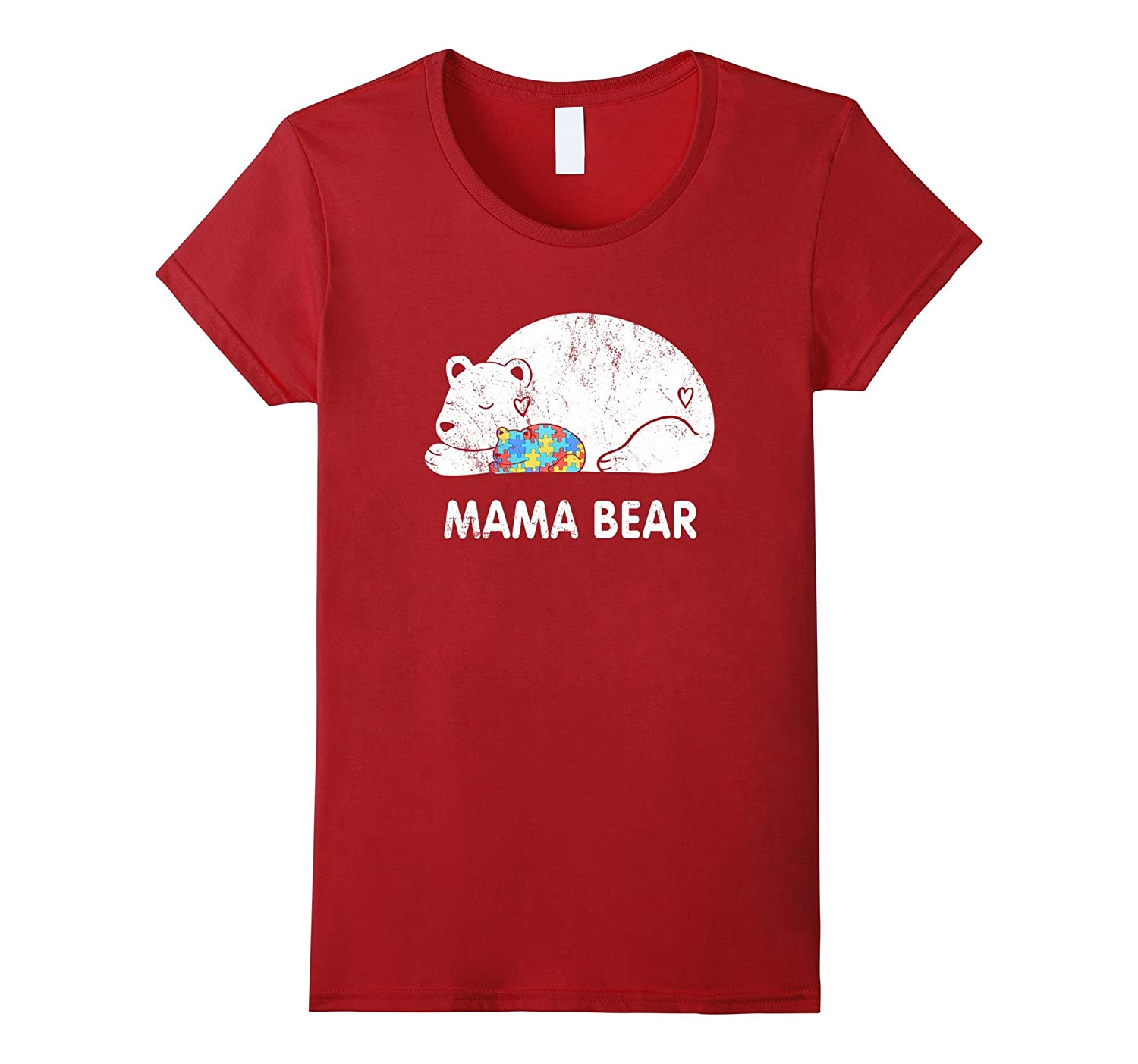 Mama Bear T-Shirt – Autism Awareness Mom Child Son Daughter