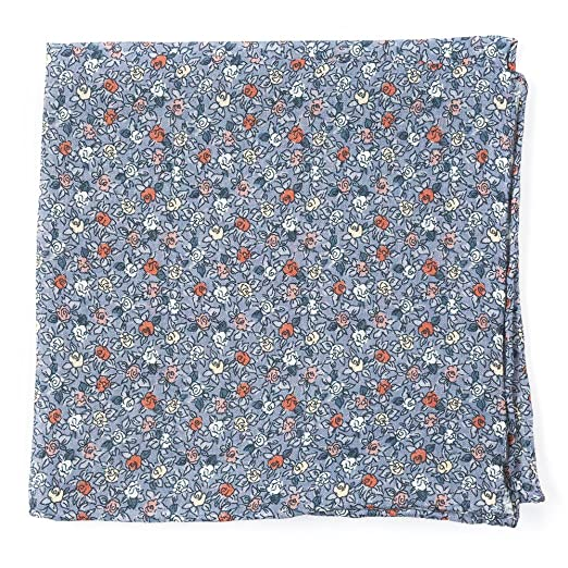 f78ed579810f3 The Tie Bar 100% Printed Linen Floral Buzz Grey Pocket Square at Amazon  Men's Clothing store: