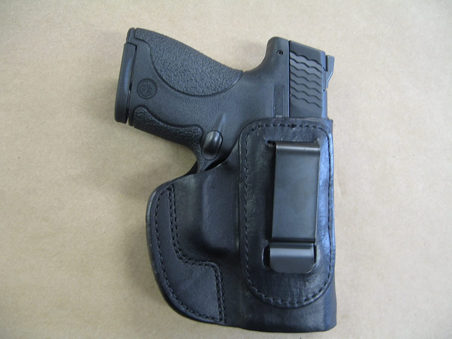 Ruger SR9c SR40c 9mm / 40 IWB Leather In The Waistband Concealed Carry  Holster BLACK RH