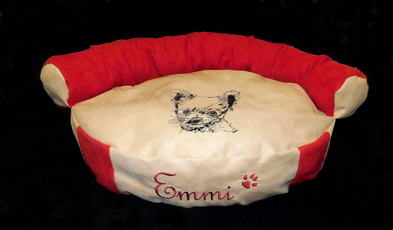 LunaChild Hunde Sofa Hundebett Lounge Hundelounge Chihuahua 1 Name Snuggle Bag Größe S M oder L in 14 Farben erhältlich
